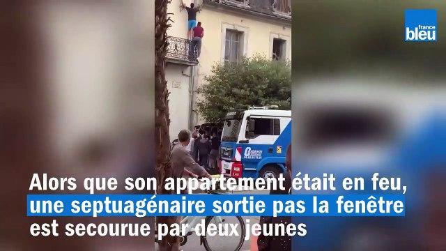 L'impressionnant sauvetage d'une septuagénaire d'un immeuble en flammes à Tarbes