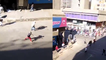 'Johannesburg, South Africa: BADASS Police Force Chases Away Looters & Troublemakers'