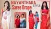 Exclusive:  2 Minute Saree Draping by Celebrity Saree Drapist Saraswathi | Nayanthara  | Say Swag
