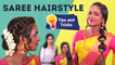 2 Easy Hairstyles For Saree Look | Hairstyle Tips & Tricks | Party / Wedding Hairstyles | Say Swag