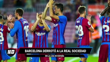 Goleada del Barcelona en el debut en LaLiga.