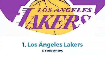 10 Equipos de la  NBA con más campeonatos