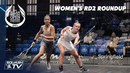Squash: Allam British Open 2021 - Women's Rd2 Roundup