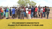Hola residents demonstrate Against plot by individuals to grab land