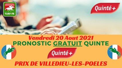 Minute Quinté TURF FR : PRIX DE VILLEDIEU-LES-POELES - Vendredi 20 Aout 2021 - Cabourg  PMU #250074