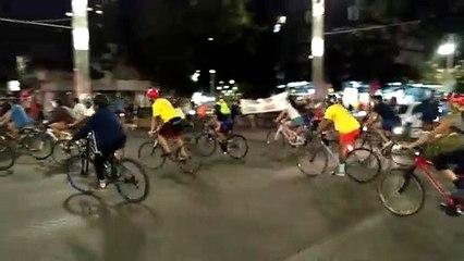 Ciclistas fazem manifestação e pedem mais segurança no trânsito de BH