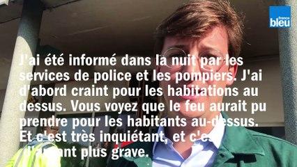La permanence du député En marche Sacha Houlié incendié dans la nuit du 19 au 20 août à Poitiers