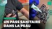 Il se fait tatouer... le QR code de son pass sanitaire sur le bras