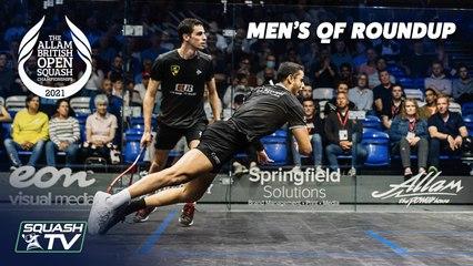 Squash: Allam British Open 2021 - Men's Quarter Final Roundup