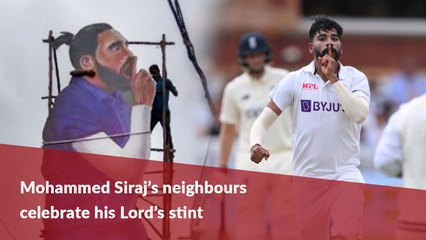 Celebrations in Mohammed Siraj's hometown over Lord's success