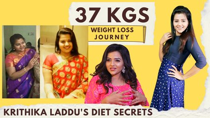 No Workout!  6 Months Liquid Diet | Actress Krithika Laddu's 37Kgs Weight Loss Transformation Secret