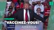 Trump sifflé par ses partisans à qui il recommandait de se faire vacciner