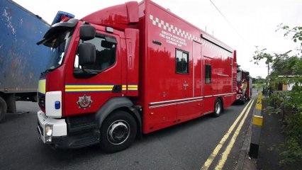 Scene of fire off Bickershaw Lane