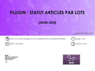 Plugin Statut articles par lots d'un site SPIP