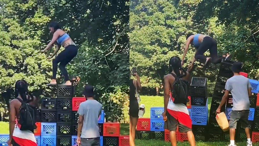 'Milk Crate Challenge GONE HORRIBLY WRONG | Do Not Try This at Home'