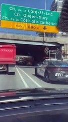 Un camion en feu provoque un embouteillage sur Décarie