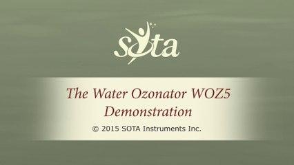 SOTA Water Ozonator - Model WOZ5 - Demonstration