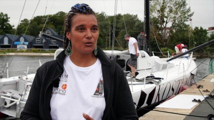 Mise à l'eau Imoca Louis Duc ITW Marie Tabarly