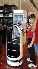 La Nouvelle éco : des robots serveurs dans un restaurant de Longueau