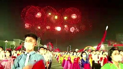 North Koreans mark Youth Day with dance party