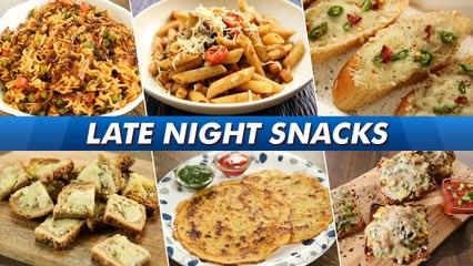 Late Night Cravings   Masala Pasta   Maggie   Garlic Bread   Chilli Cheese Toast   Bread Pizza