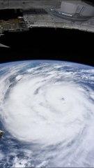 Huracán Ida visto desde la Estación Espacial Internacional