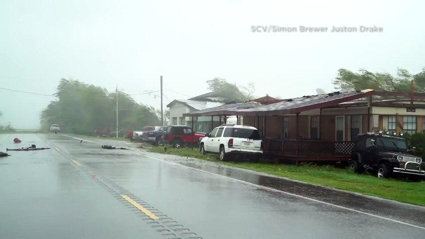 Powerful Hurricane Ida rips through Lafourche Parish, Louisiana