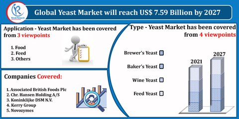 Yeast Market, By Type, Application, Companies, Global Forecast by 2027