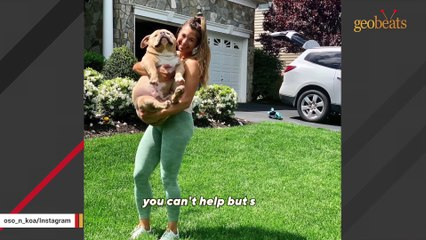 Woman can't believe her dog is real