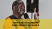 Unity is key to achieving development, says Raila