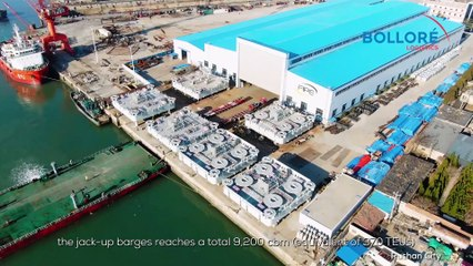 Bolloré Logistics China Successfully Handled Six Jack-up Barges
