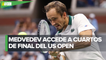 Daniil Medvedev se impone en US Open y derrota a Daniel Evans en tres sets