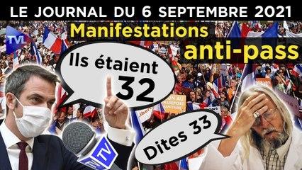 Pass-sanitaire : les manifestants gardent le cap - JT du lundi 6 septembre 2021