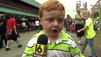 'Apparently' kid interviewed at Pennsylvania county fair