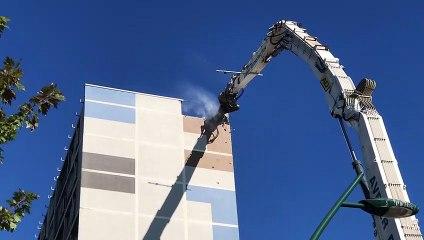 Le chantier de démolition de la Tour Sainte-Hélène a démarré à Châteauroux
