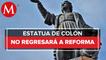 Escultura de mujer olmeca sustituirá a estatua de Cristóbal Colón en Paseo de la Reforma