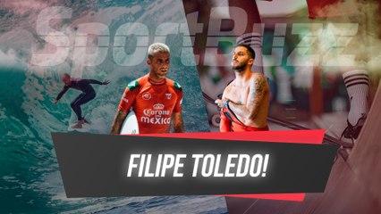 """FILIPE TOLEDO PROJETA ETAPA DECISIVA DO MUNDIAL DE SURFE E FALA SOBRE A FAMÍLIA """"ME MUDOU"""""""