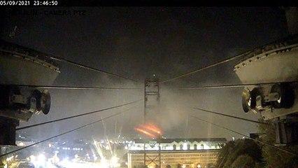 Le météore dans le ciel breton vu du téléphérique de Brest