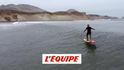 Laird Hamilton s'éclate en foil au Pérou sur une vague interminable - Adrénaline - Surf