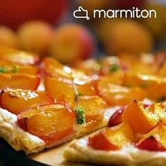 Tarte aux abricots et thym