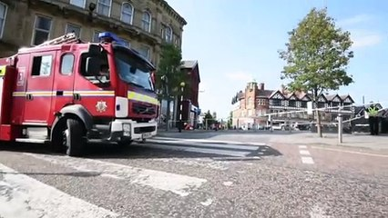 Fire in Wigan town centre