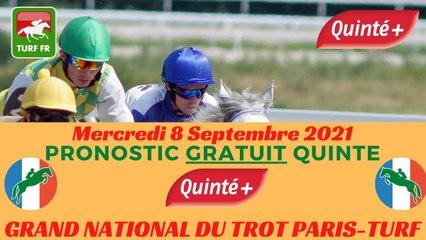Minute Quinté TURF FR : GRAND NATIONAL DU TROT PARIS-TURF - Mercredi 8 Septembre 2021 - Pornichet La Baule  PMU #252175