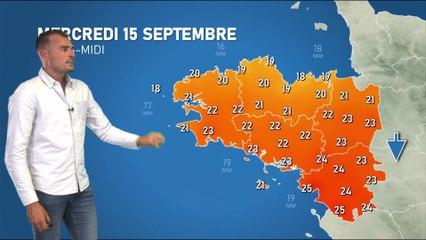 Bulletin météo pour le mercredi 15 septembre 2021