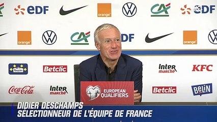 France – Finlande : Deschamps salue la première sélection et la performance de Theo Hernandez