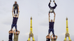 'Talented Acrobatic Group Performs INSANE Act with Eiffel Tower in the Background'