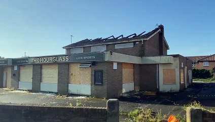 Damage to The Hourglass pub following fire