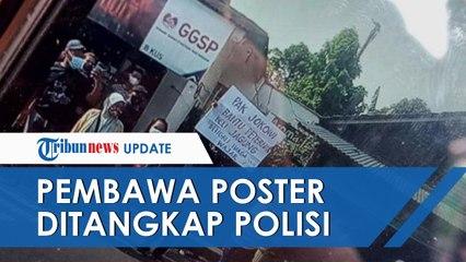 Bentangkan Poster Bertuliskan Tuntutan di Dekat Jokowi, Seorang Warga Blitar Ditangkap Polisi