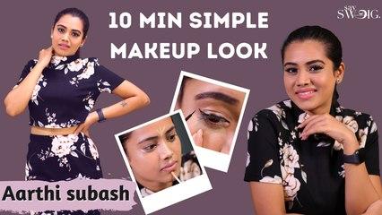 Aarthi Subash's 10 Minute Simple Makeup Routine | Pandavar Illam Serial | Makeup Tips | Say Swag