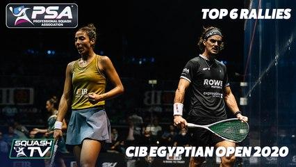 Squash: Top 6 Rallies - CIB Egyptian Open 2020