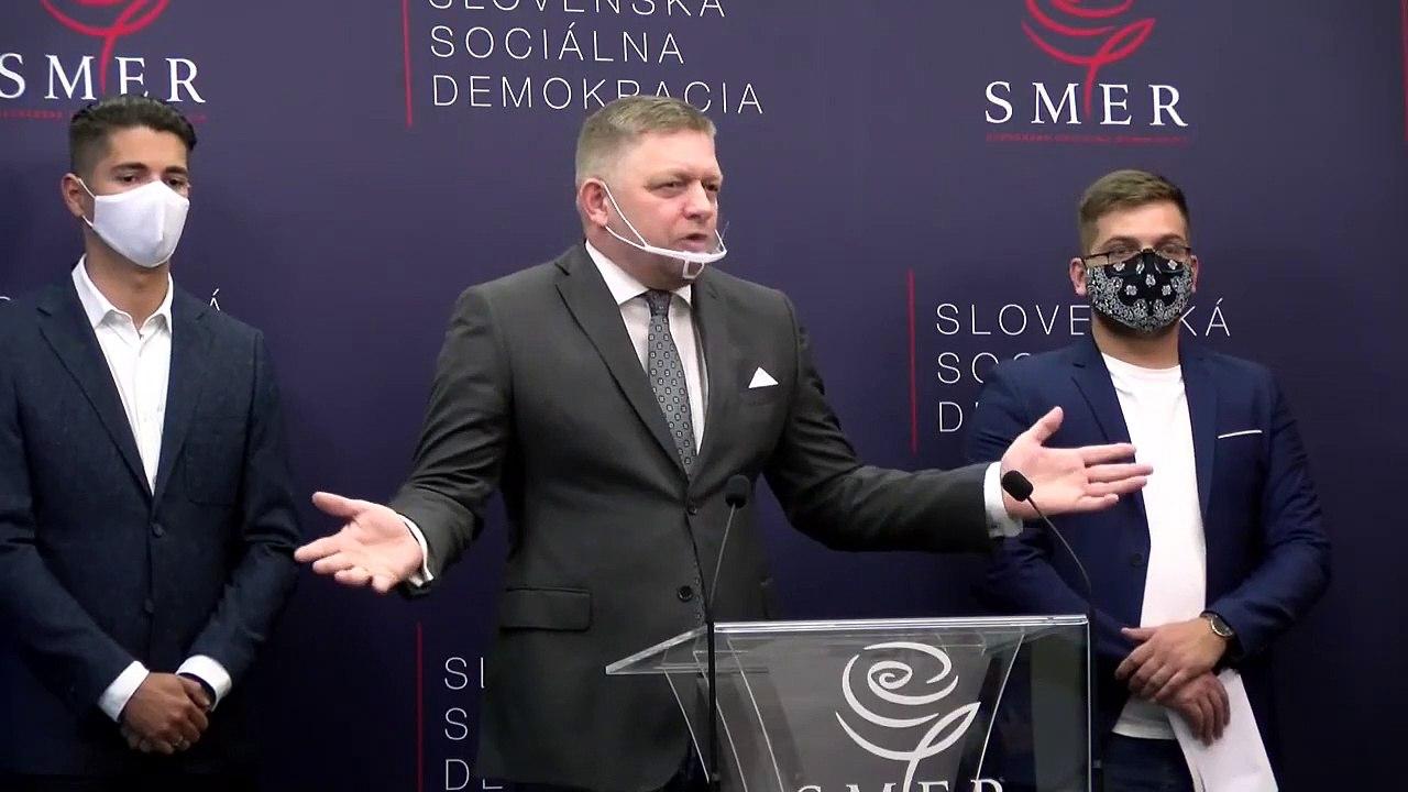 ZÁZNAM: TK predstaviteľov strany Smer-SD k aktuálnej situácii